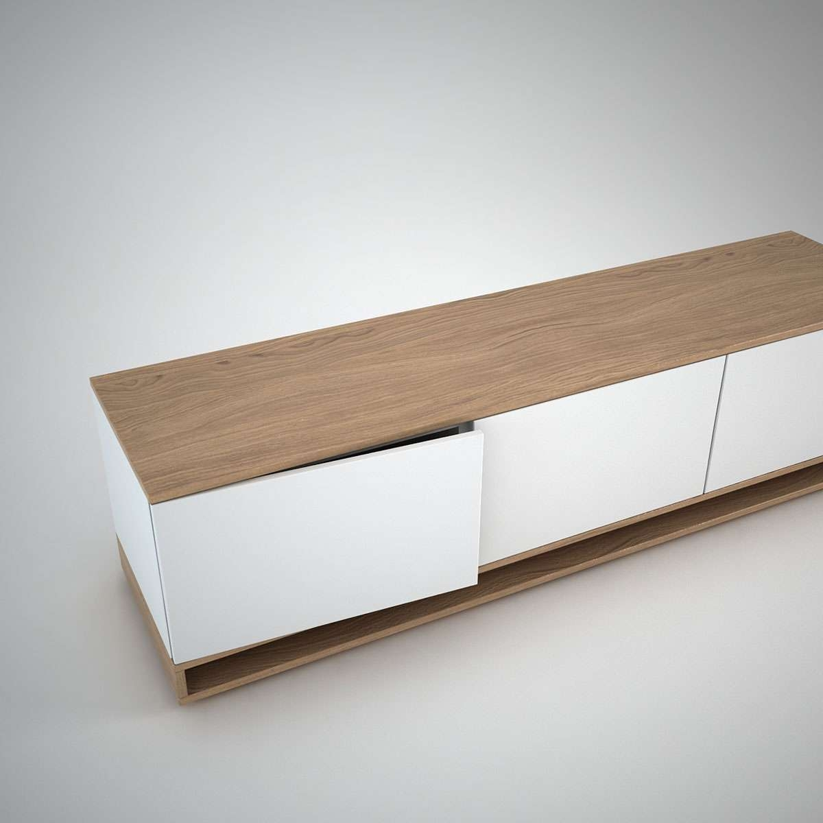 Harlem Low Sideboard (3) White – Join Furniture For Small Low Sideboards (View 2 of 20)