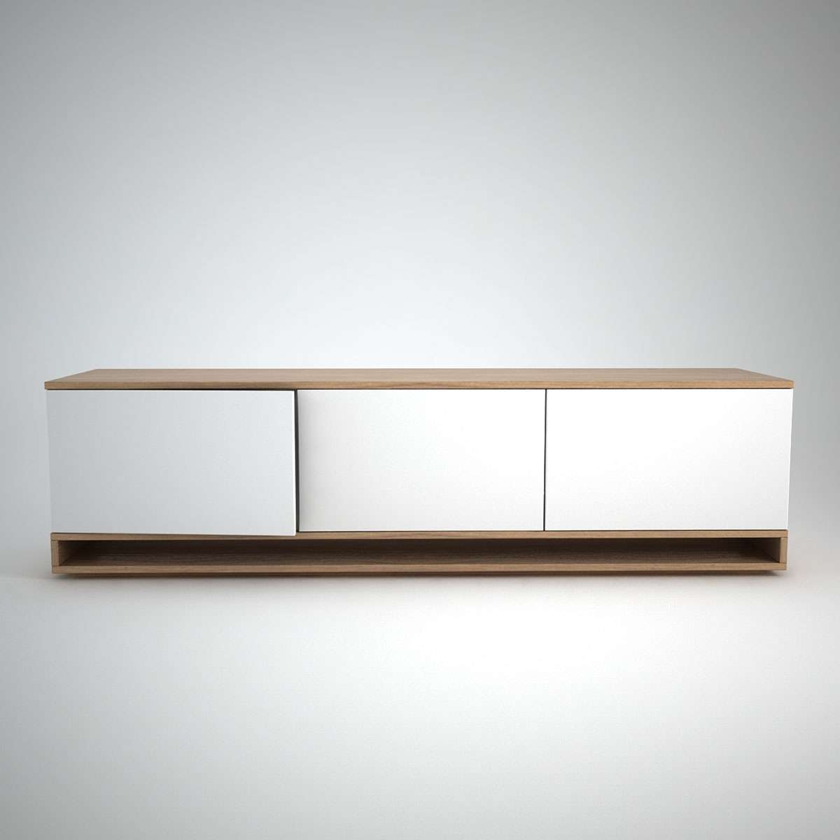 Harlem Low Sideboard (3) White – Join Furniture Inside Low Sideboards (View 14 of 20)