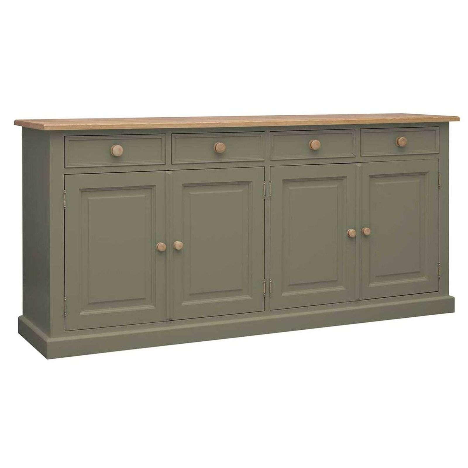 Harrogate Green Painted Pine Furniture Extra Large Sideboard In Pine Sideboards (View 7 of 20)
