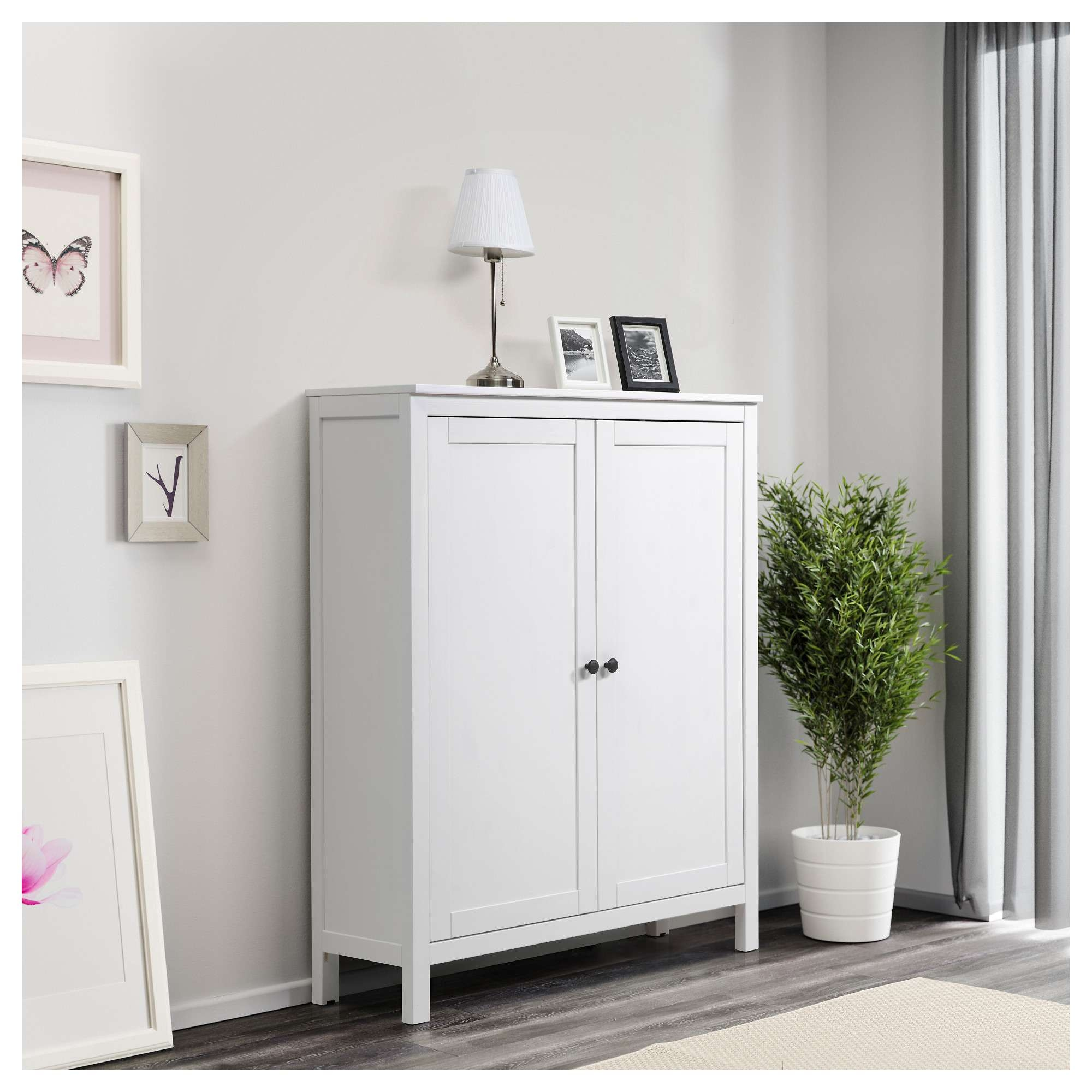 Hemnes Cabinet With 2 Doors White Stain 99X130 Cm – Ikea For Ikea Hemnes Sideboards (View 3 of 20)