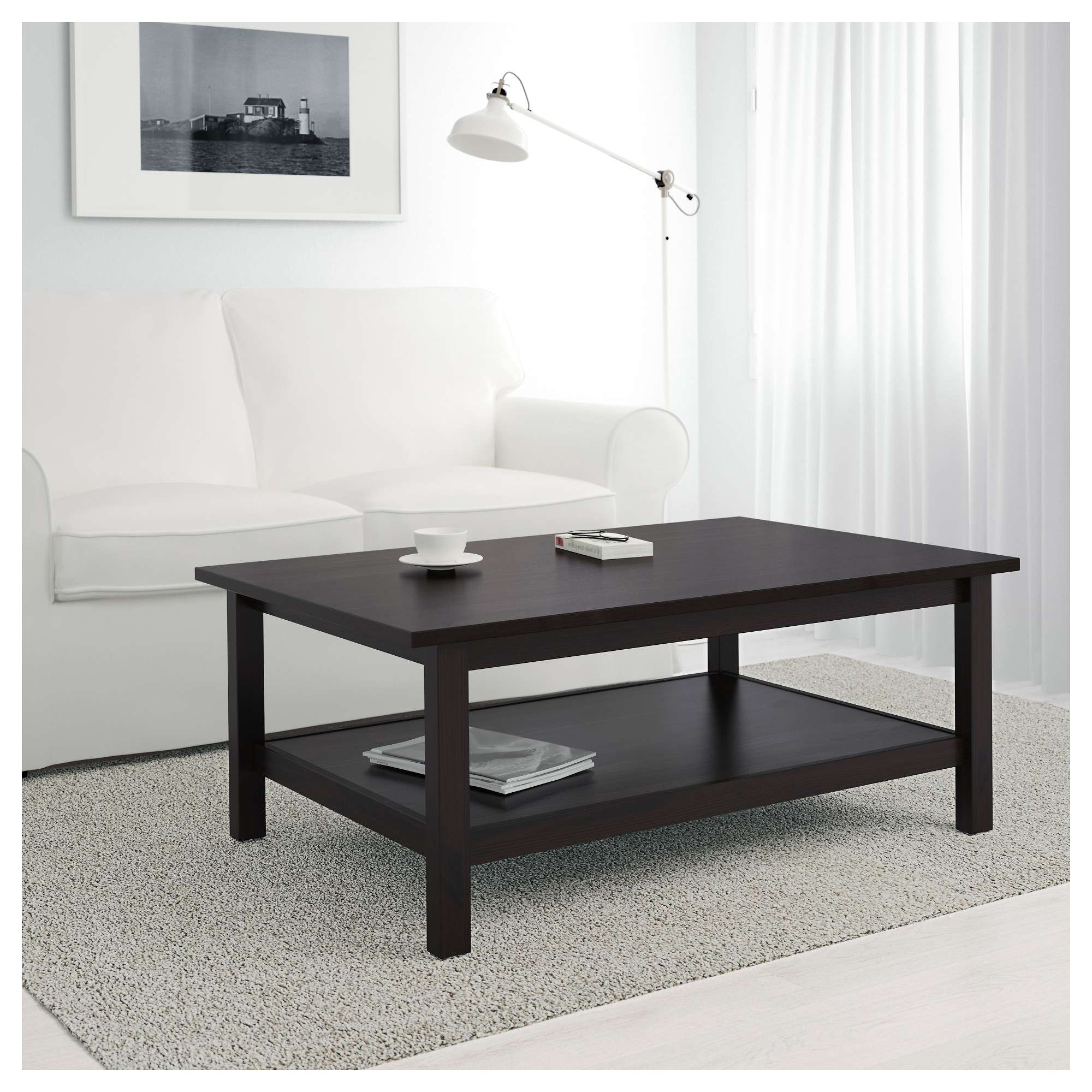 Hemnes Coffee Table – White Stain – Ikea Intended For Latest White And Brown Coffee Tables (View 10 of 20)