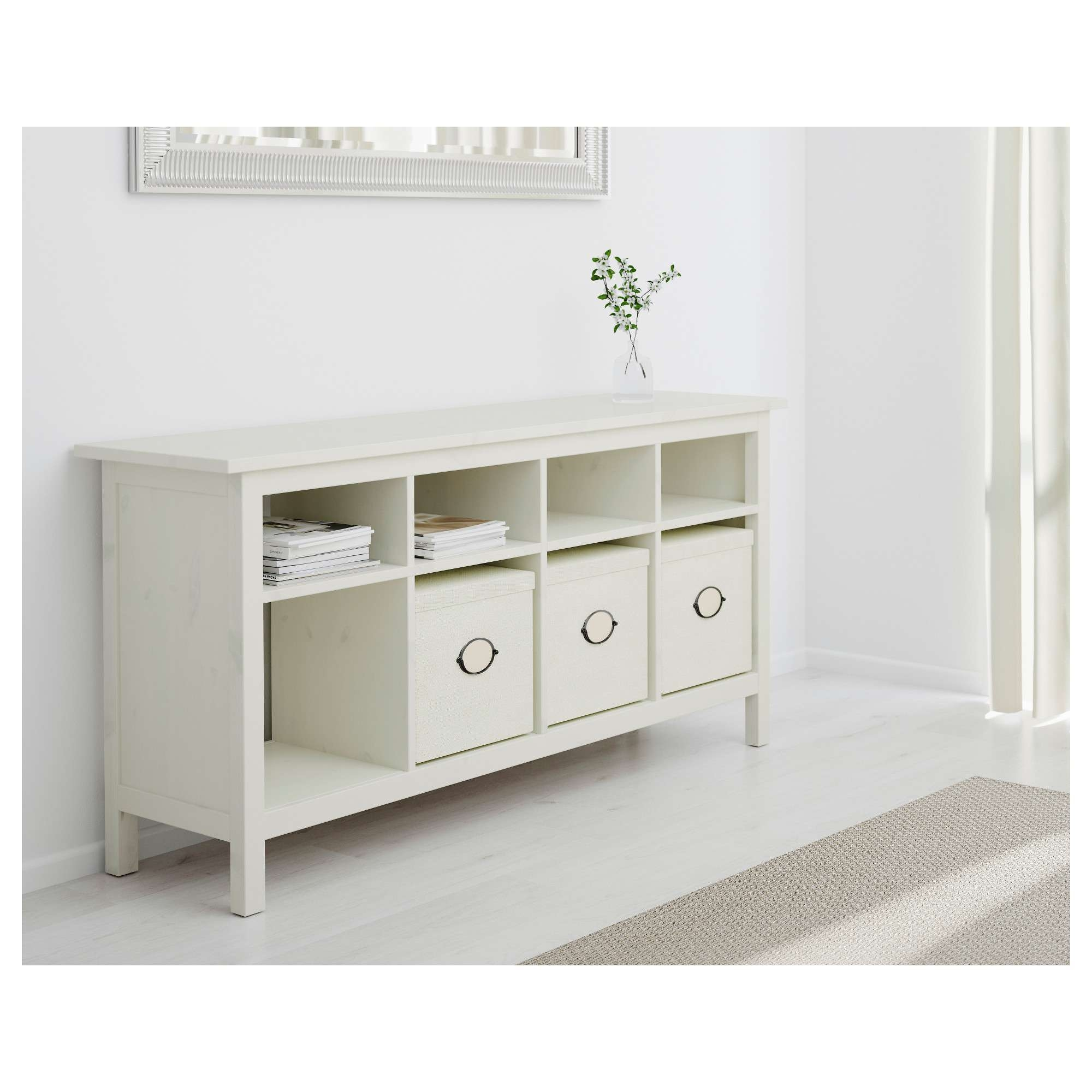Hemnes Console Table White Stain 157x40 Cm – Ikea For Sideboards And Tables (View 15 of 20)