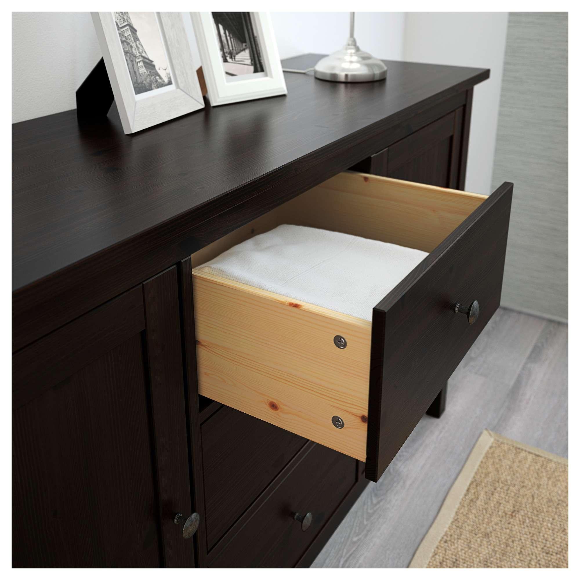 Hemnes Sideboard Black Brown 157x88 Cm – Ikea Inside Black Brown Sideboards (View 15 of 20)