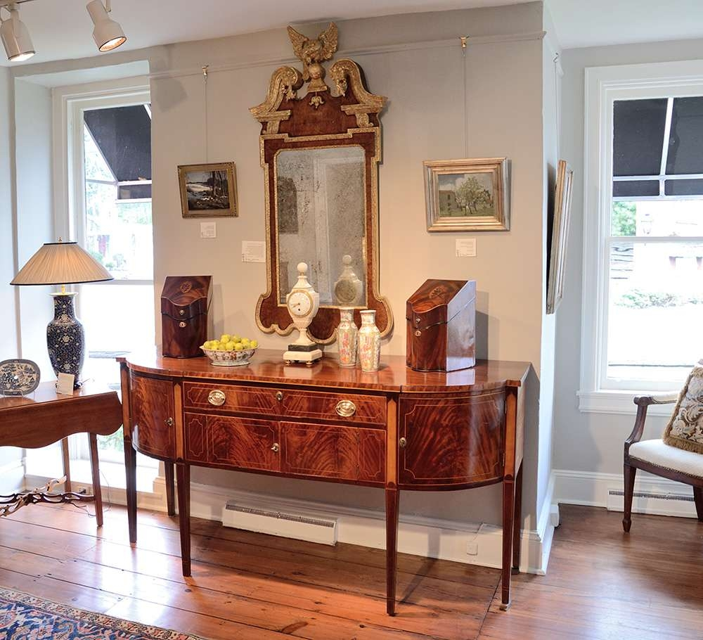 Hepplewhite Inlaid Mahogany Sideboard / Sold – Raymond James Antiques Throughout Hepplewhite Sideboards (View 11 of 20)