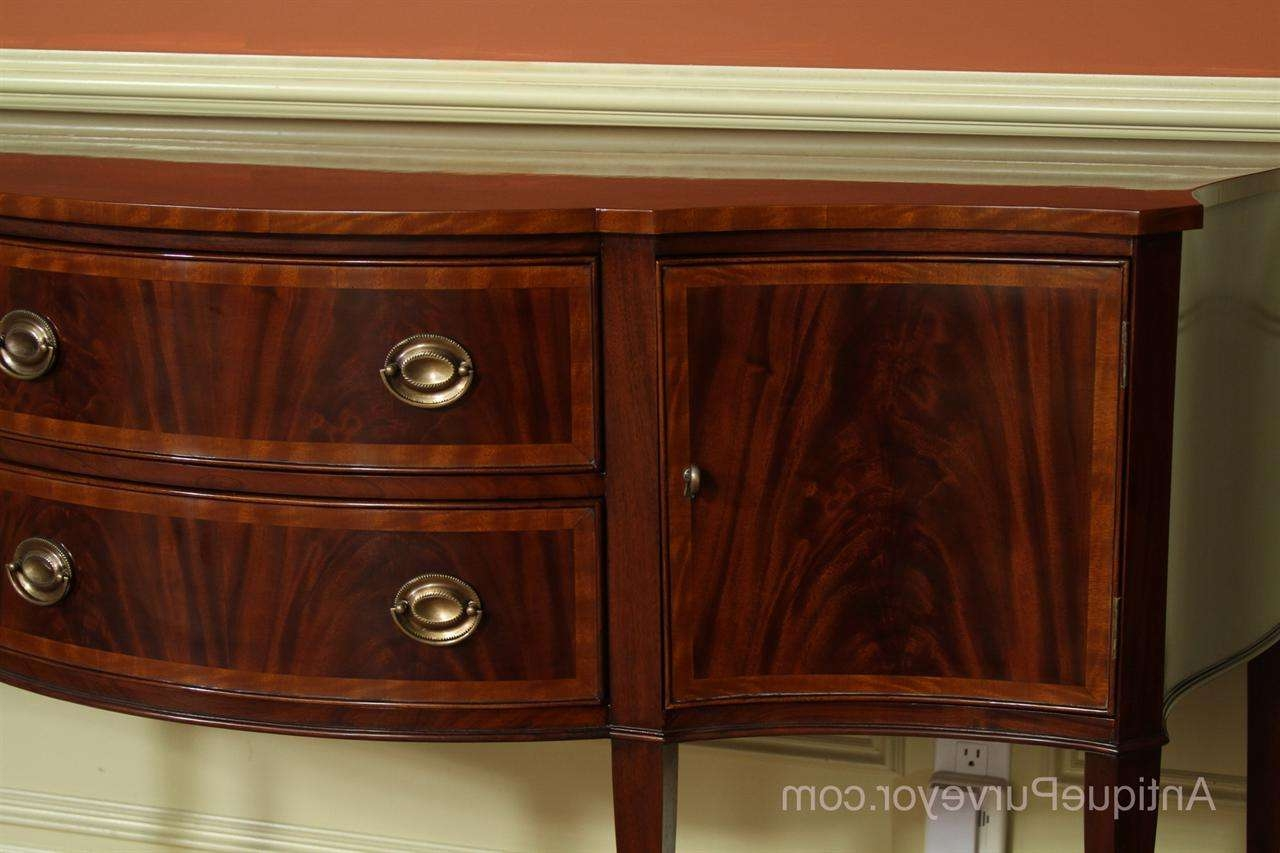 Hepplewhite Or Federal Sideboard, High End Furniture With Regard To Mahogany Sideboards (View 14 of 20)