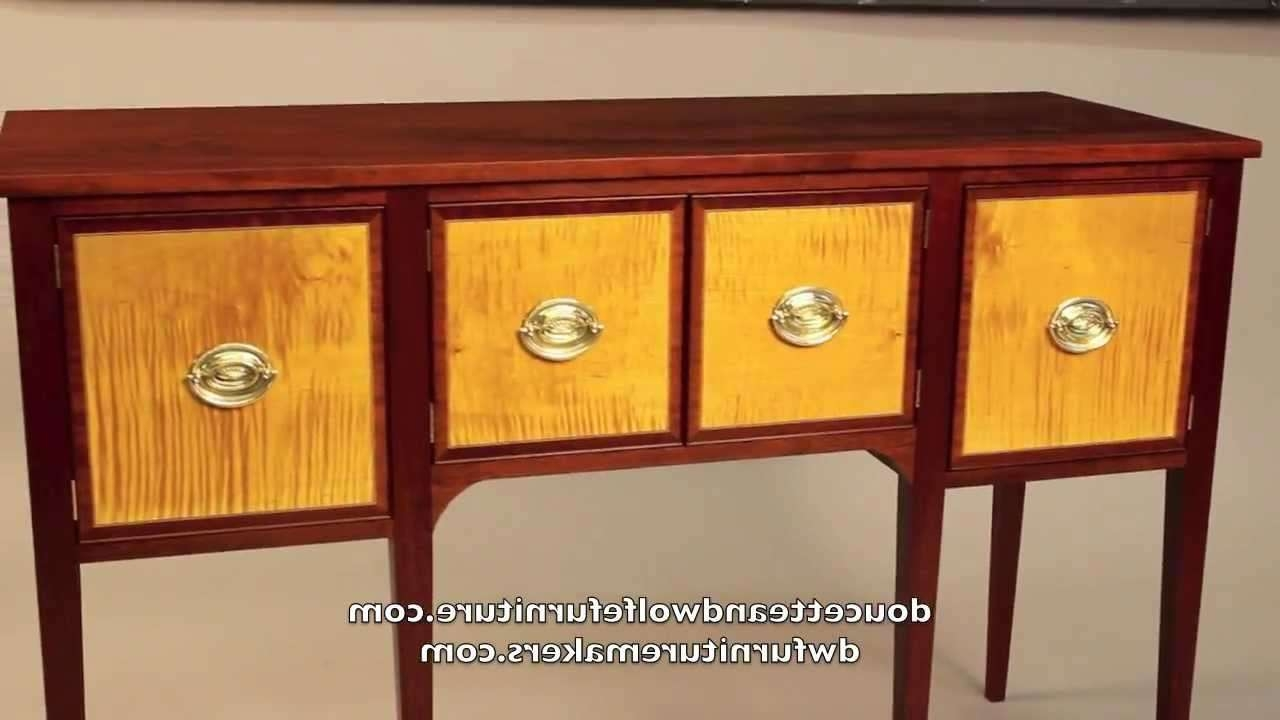 Hepplewhite Sideboard Handmadedoucette And Wolfe Furniture Intended For Hepplewhite Sideboards (Gallery 3 of 20)