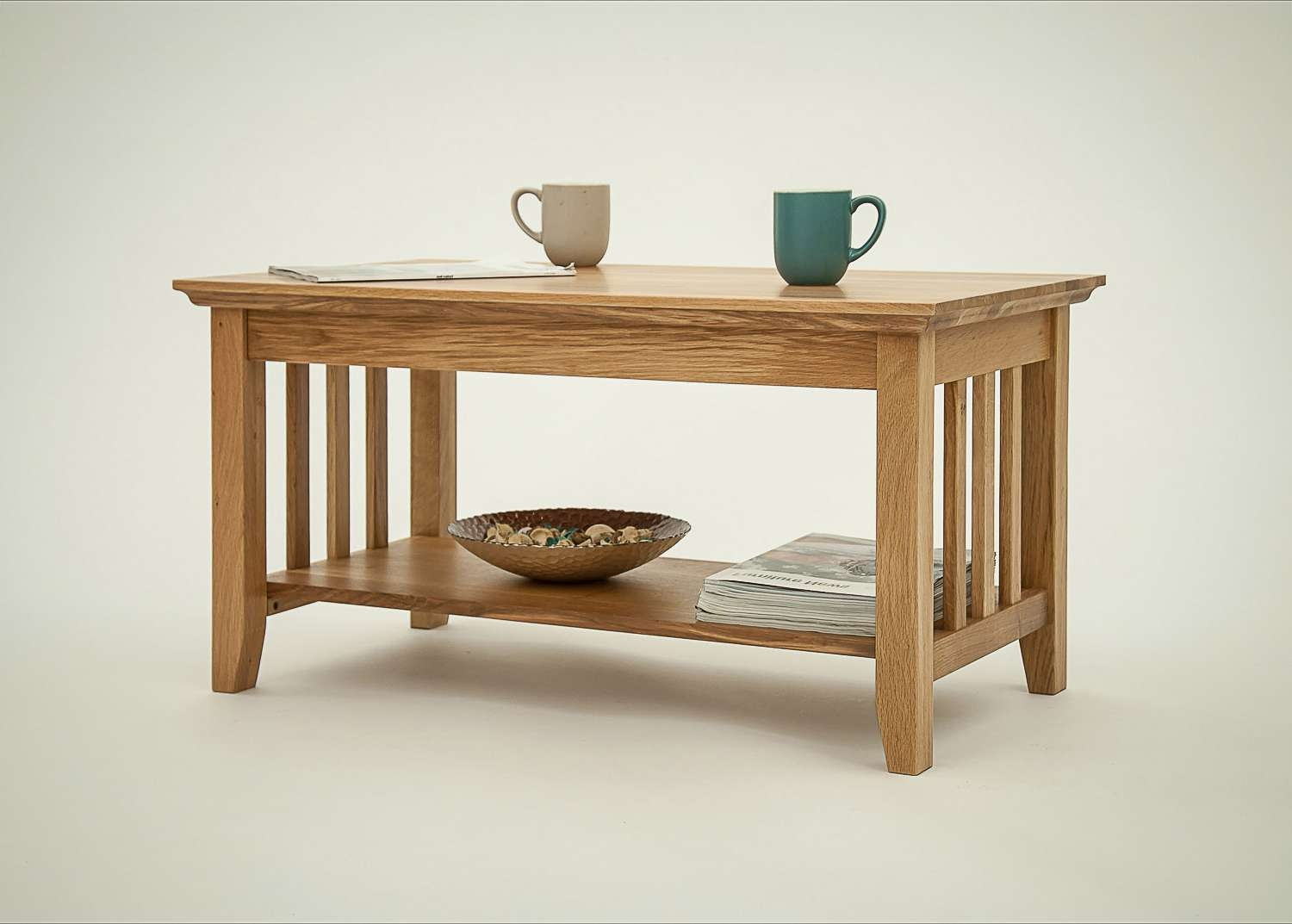 Hereford Rustic Oak Coffee Table With Shelf (View 16 of 20)
