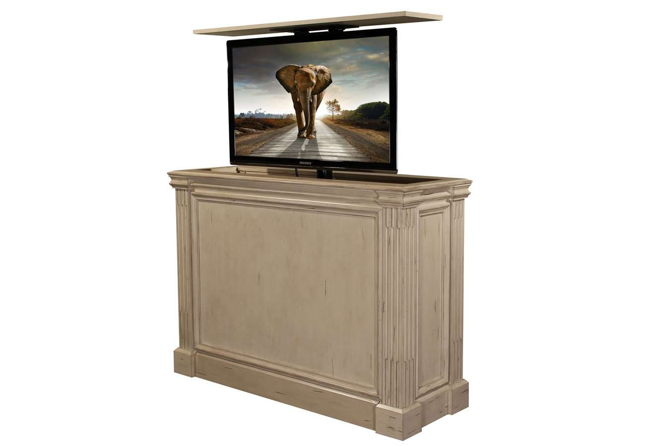 Hidden Tv Cabinet | Pop Up Tv Cabinet | Transitional Tv Cabinets Pertaining To Shabby Chic Tv Cabinets (View 18 of 20)