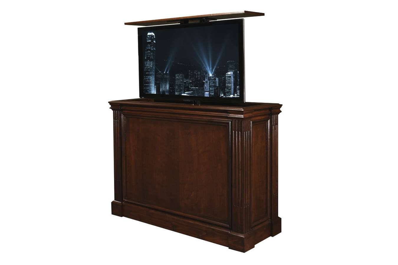 Hidden Tv Cabinet | Pop Up Tv Cabinet | Transitional Tv Cabinets Regarding Wenge Tv Cabinets (View 7 of 20)