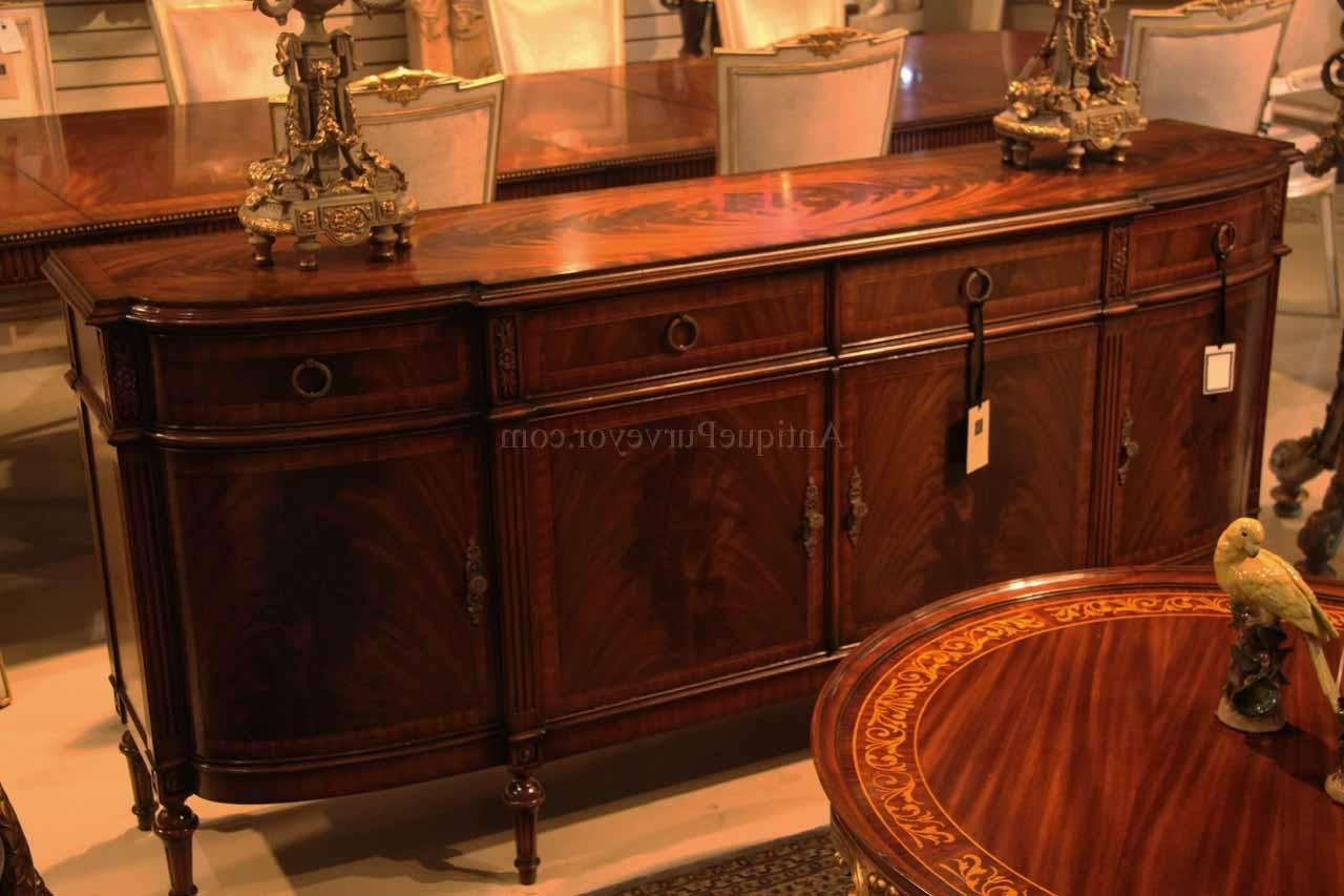 High End Antique Reproduction Dining Room Sideboard For Mahogany Sideboards (View 15 of 20)
