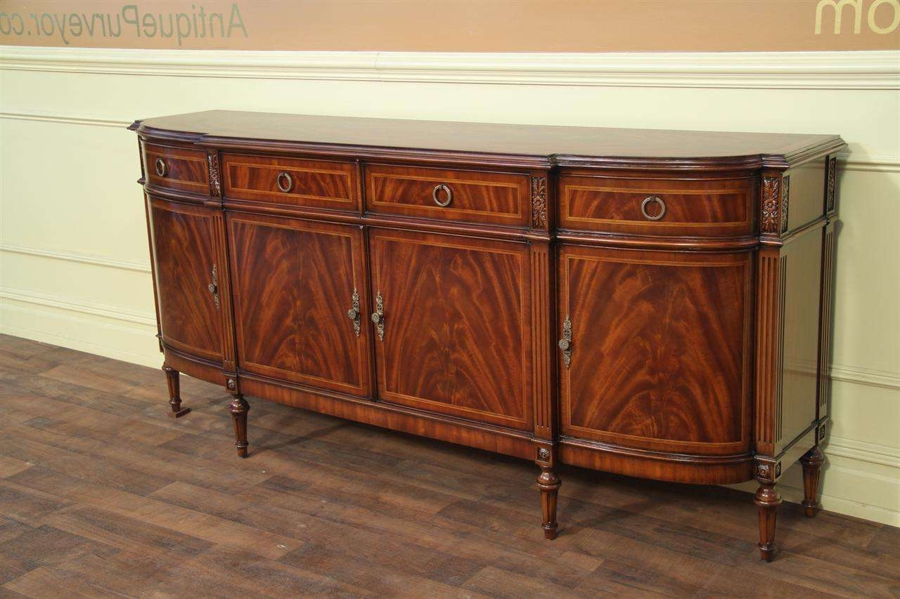 High End Antique Reproduction Dining Room Sideboard Pertaining To Mahogany Sideboards (View 9 of 20)