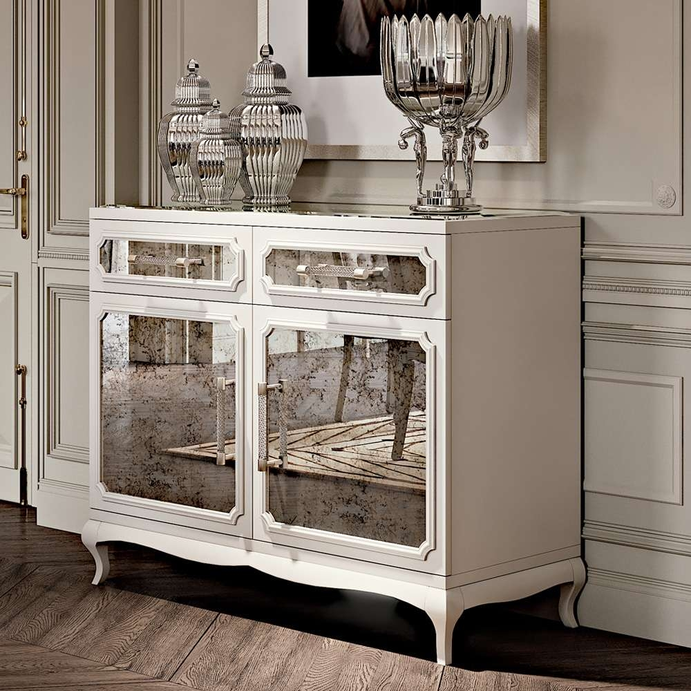 High End Modern Lacquered Mirrored Sideboard | Juliettes Interiors Within Mirrored Sideboards (View 7 of 20)