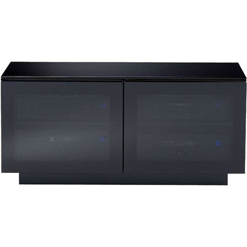 High Gloss Corner Media Stand Wide Storage Flat Screen Regarding Black Tv Cabinets With Doors (View 9 of 20)