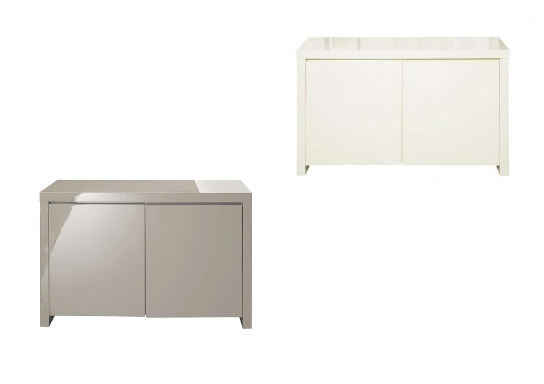 High Gloss Cream Or Stone 2 Door Sideboard Within High Gloss Cream Sideboards (Gallery 12 of 20)