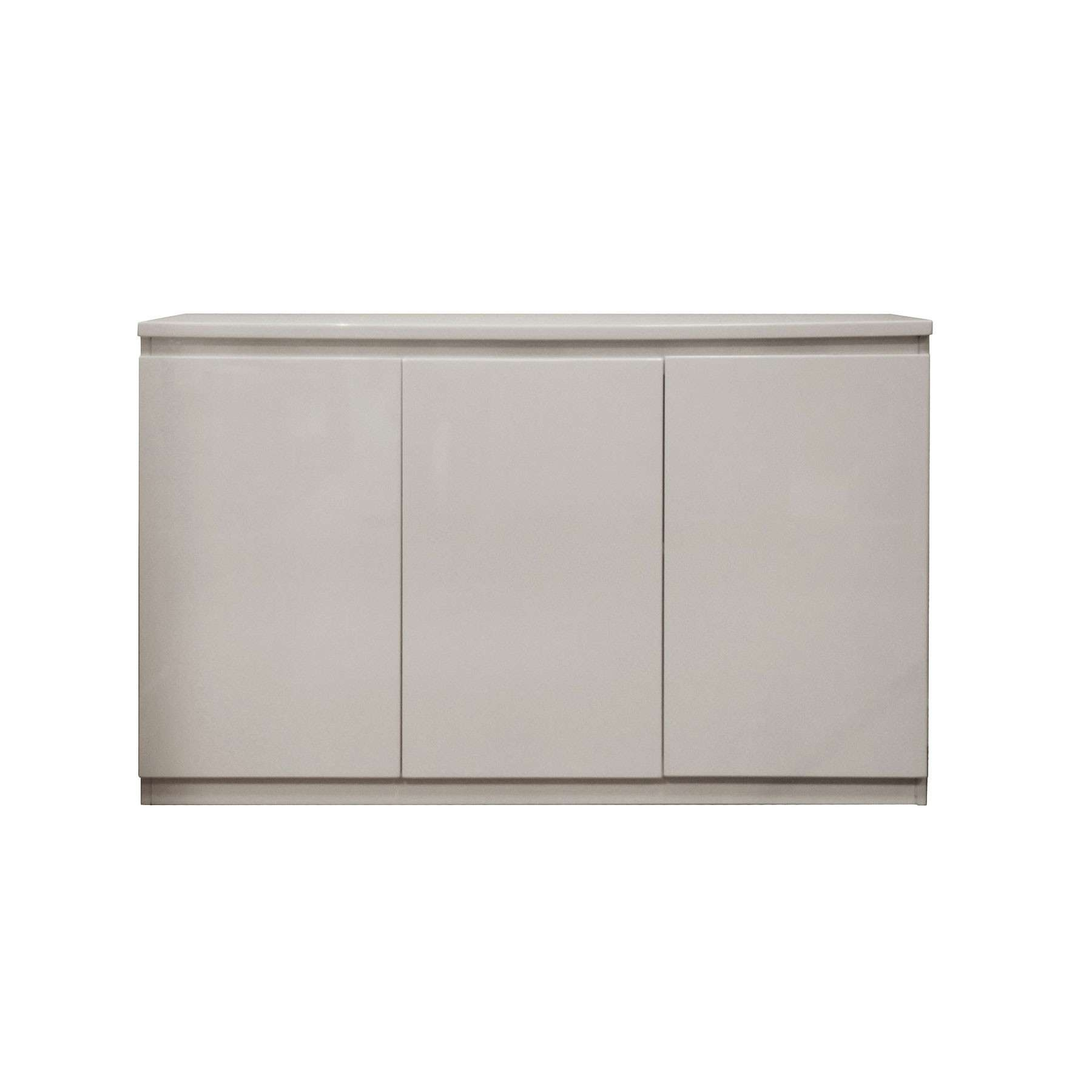 High Gloss Grey 3 Door Sideboard With High Gloss Grey Sideboards (View 14 of 20)