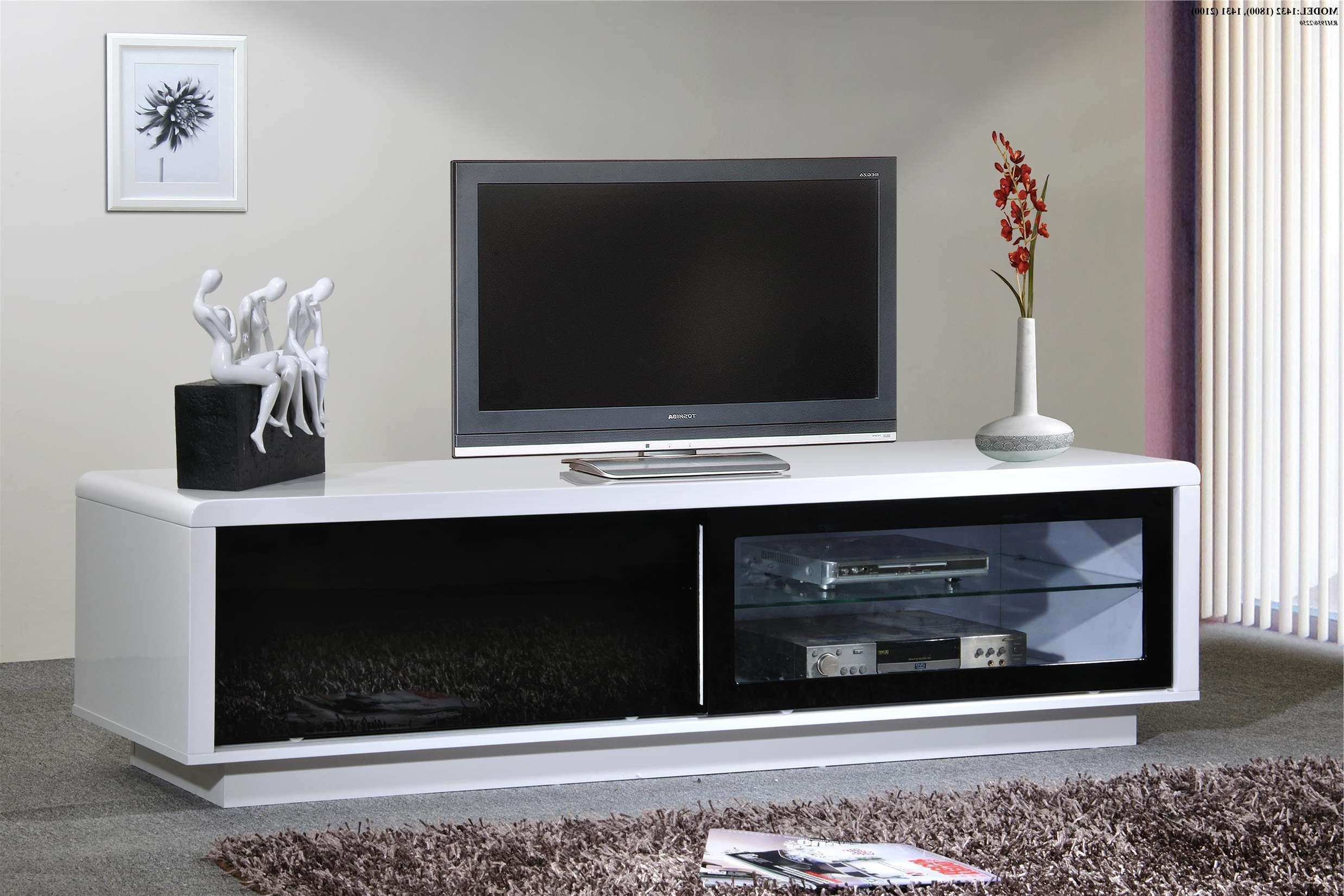 High Gloss Tv Cabinet (1432 Black) (End 6/27/2016 1:15 Pm) With High Gloss Tv Cabinets (View 7 of 20)