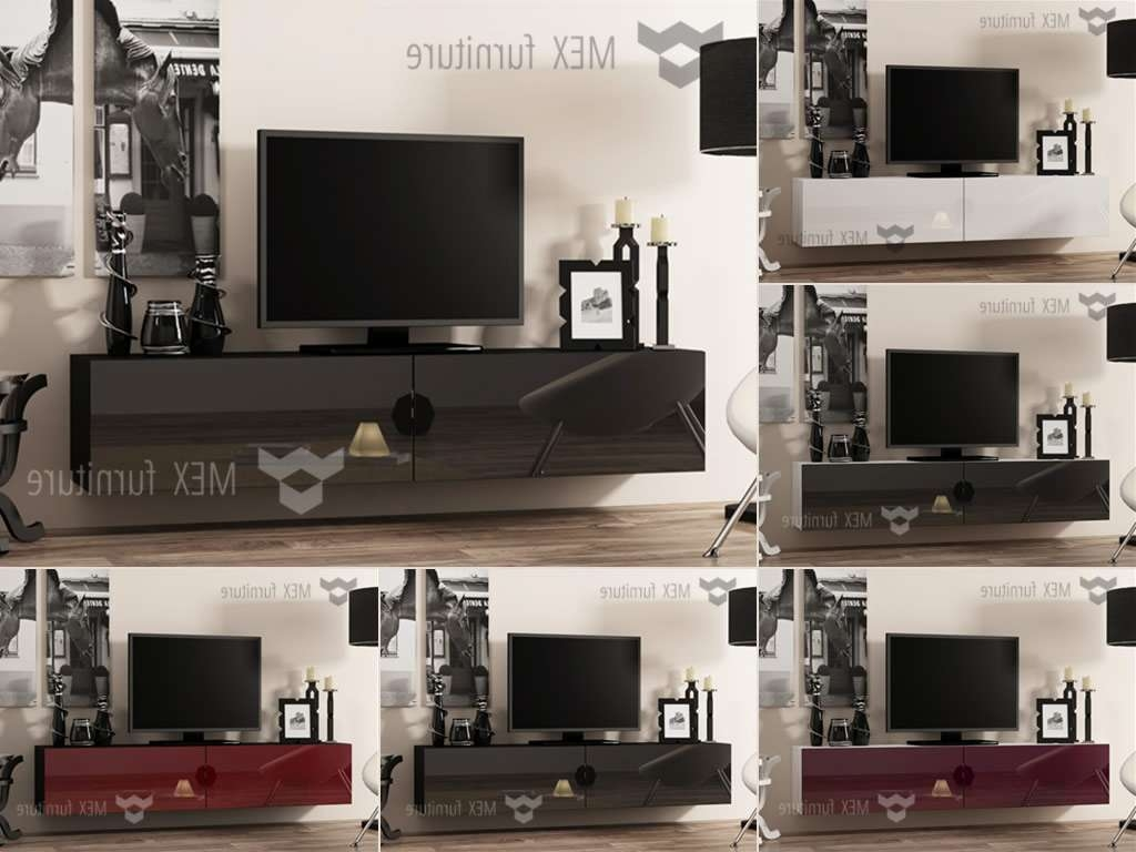 High Gloss Tv Cabinets, Unit – Mex Furniture Regarding Led Tv Cabinets (View 10 of 20)
