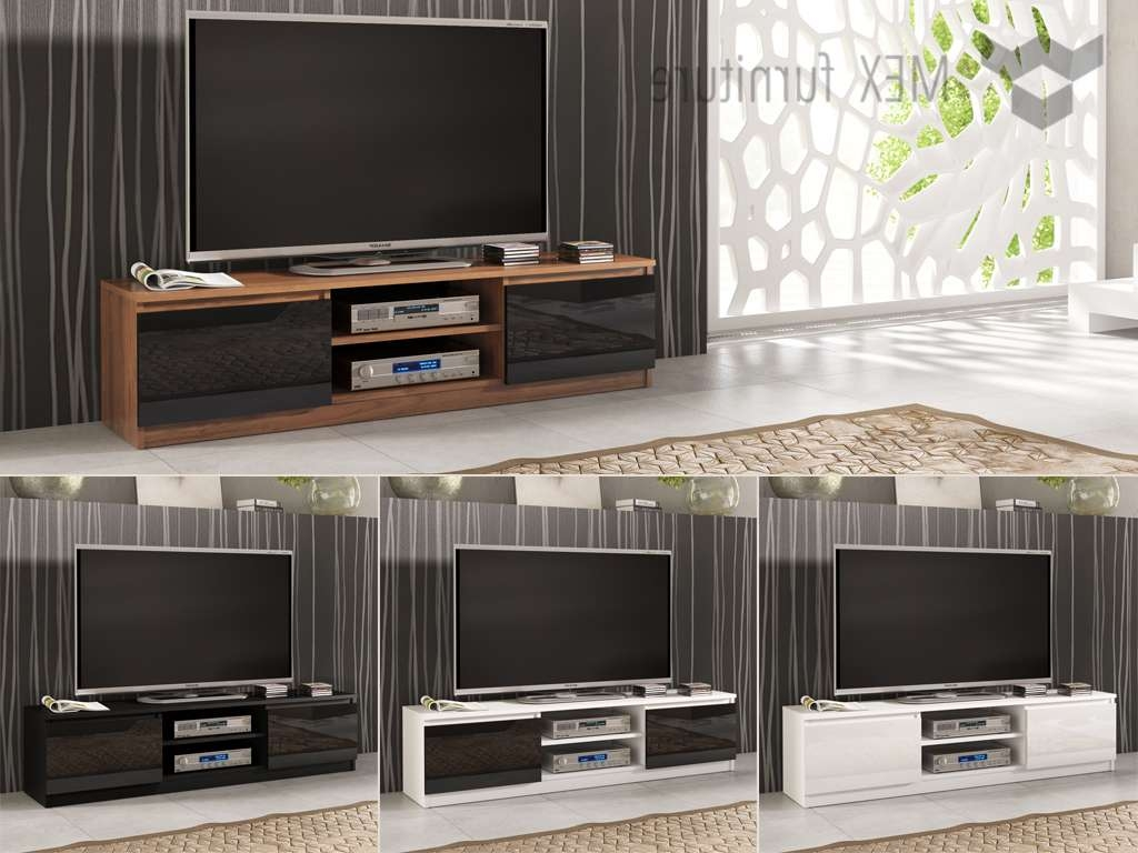 High Gloss Tv Cabinets, Unit – Mex Furniture Within Tv Cabinets Black High Gloss (View 8 of 20)