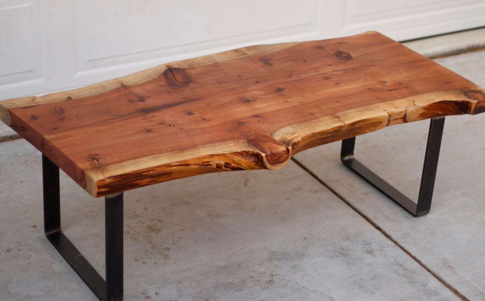 High Quality Wood Slab Coffee Table Natural Tables Australia I Within Well Known High Quality Coffee Tables (View 14 of 20)