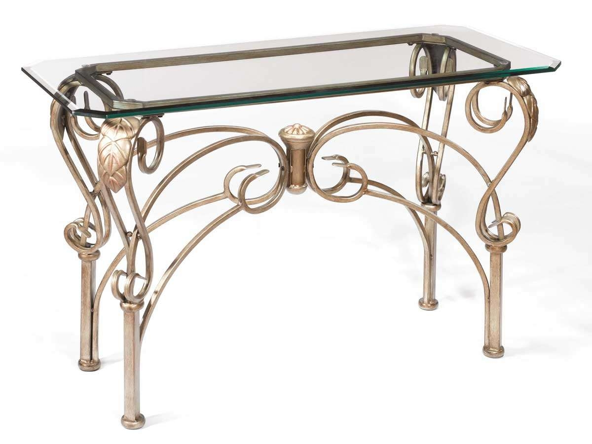 Hillsdale Bordeaux Sofa Table With Glass Top 41610 9010 Throughout Fashionable Bordeaux Coffee Tables (View 19 of 20)