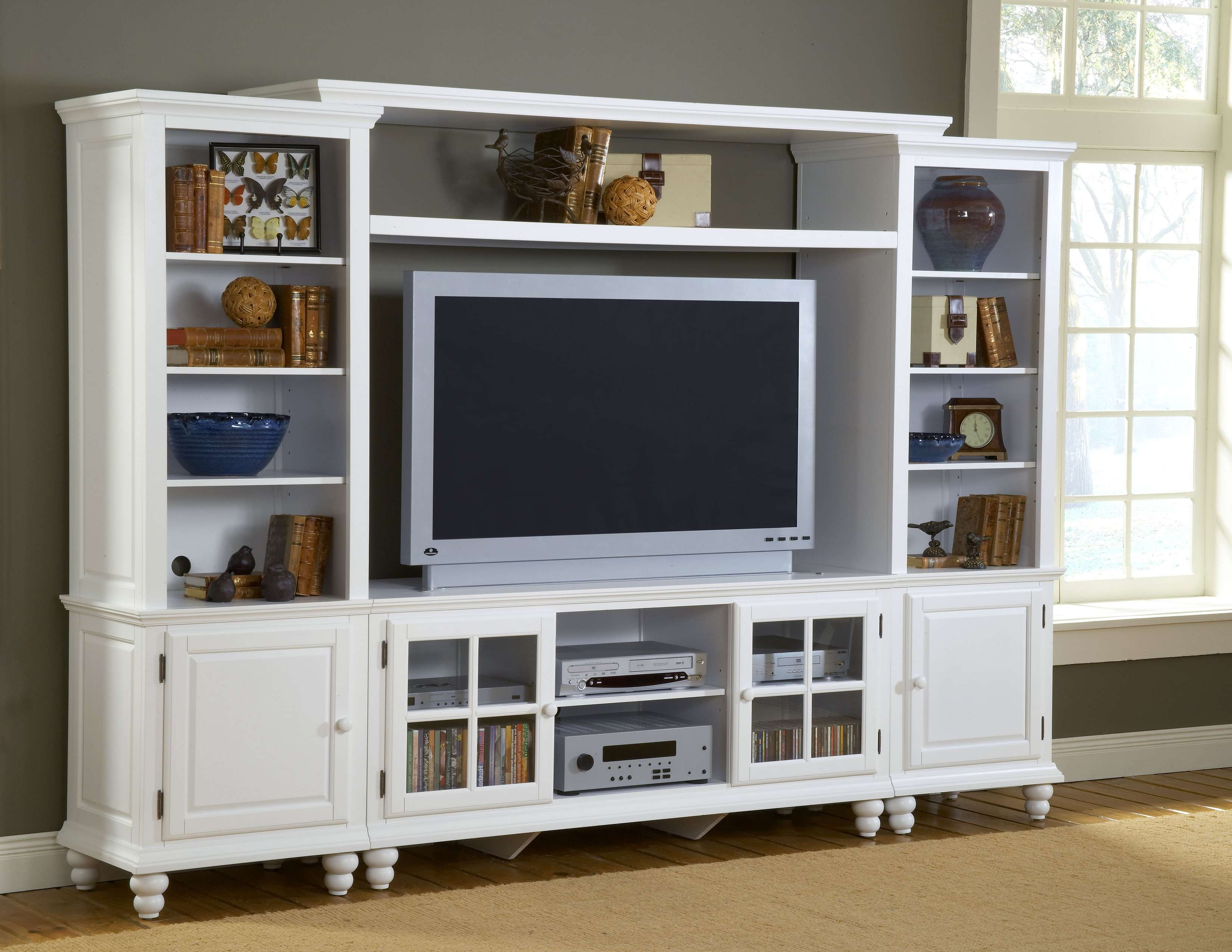 Hillsdale Grand Bay Entertainment Large Wall Unit With Regard To Large Tv Cabinets (View 12 of 20)