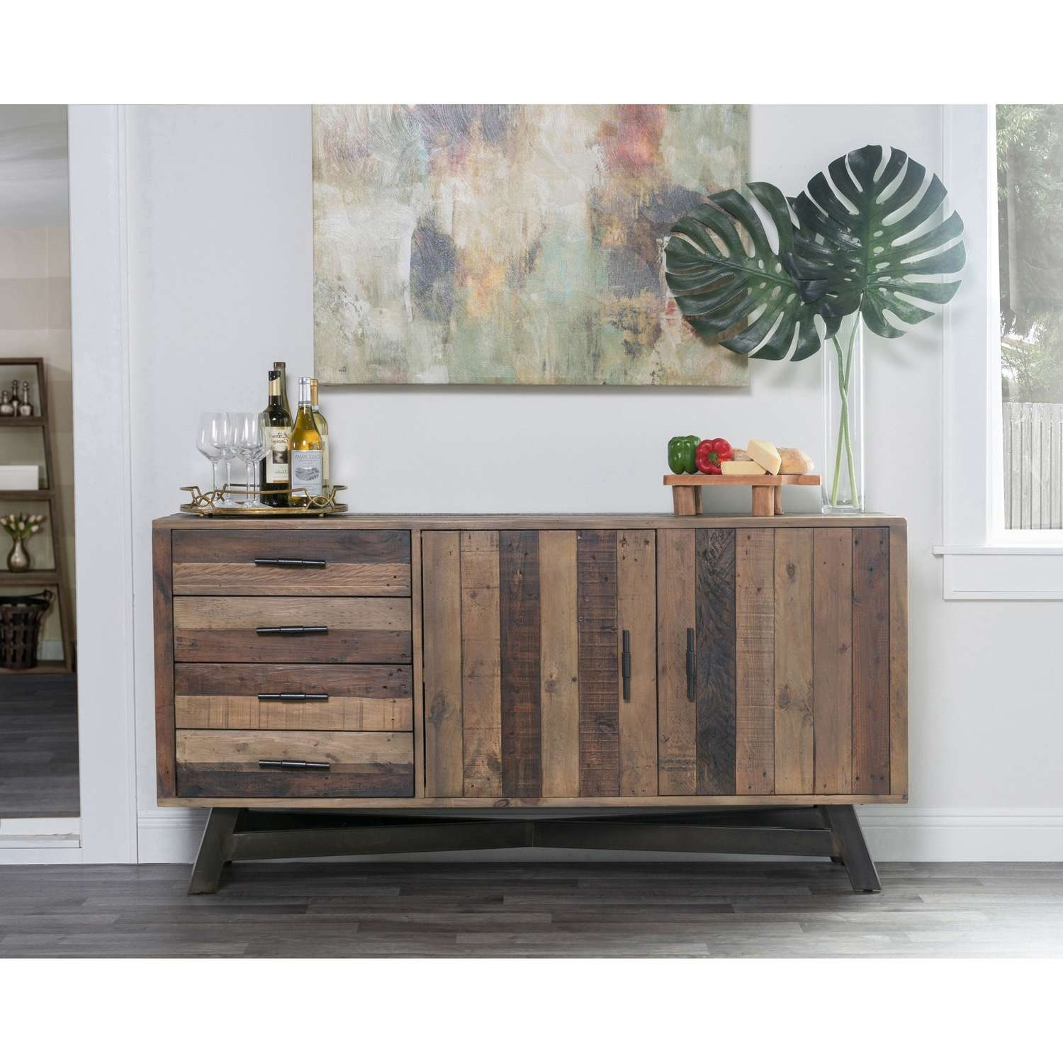 Holden Reclaimed Wood 65 Inch Sideboardkosas Home – Free Intended For 50 Inch Sideboards (View 13 of 20)