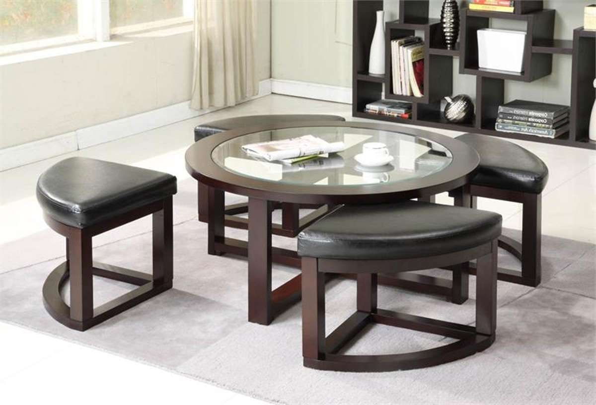 Home ~ Coffee Table With Stools White Nested Stoolscoffee Within Recent Coffee Tables With Nesting Stools (Gallery 15 of 20)