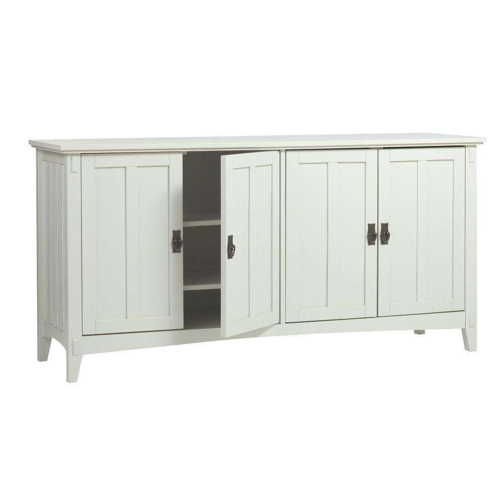 Home Decorators Collection Artisan White Buffet Sk18514 W – The In White Sideboards Tables (View 11 of 20)