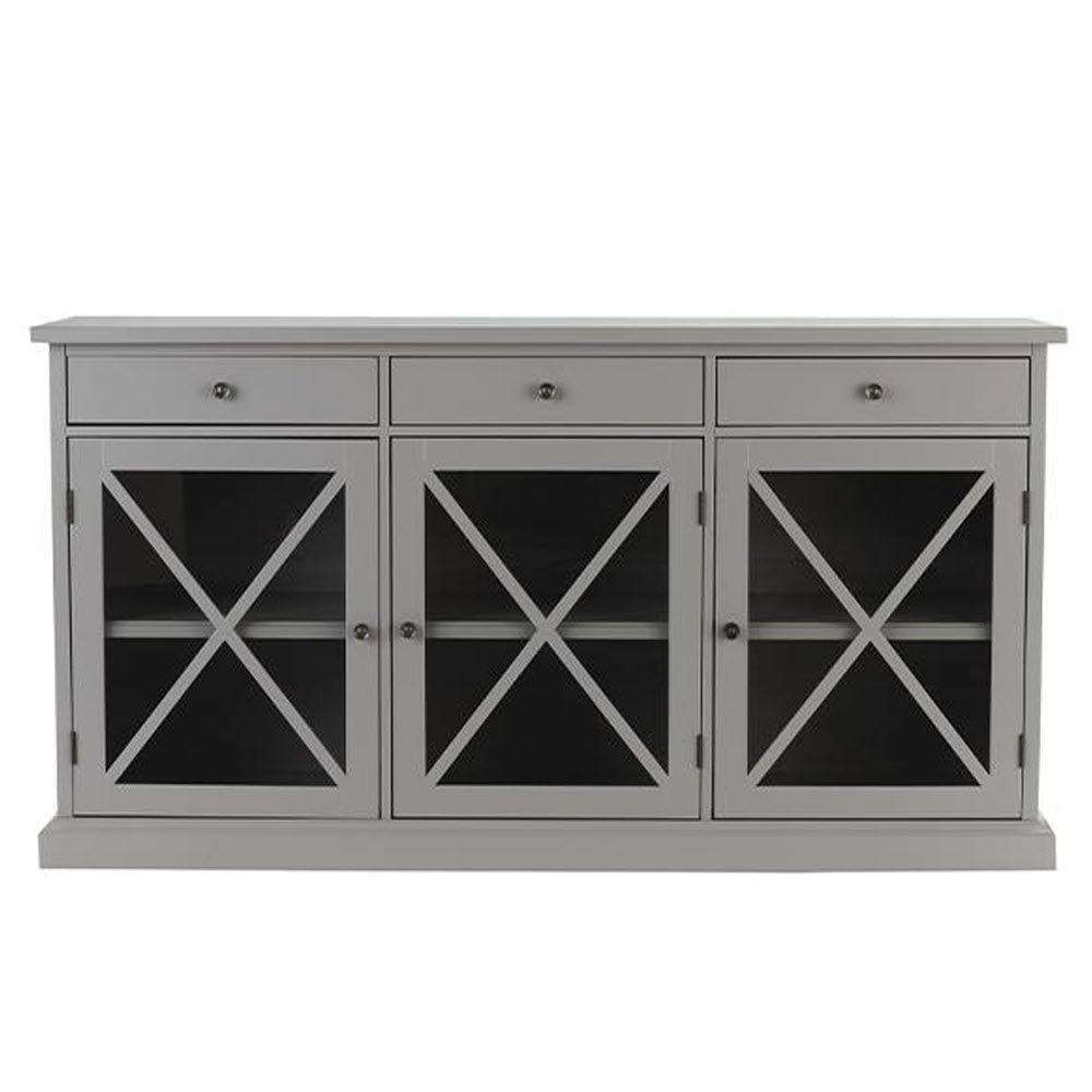 Home Decorators Collection Hampton Grey Sideboard Sk17912Ar2 G Regarding Black Buffet Sideboards (View 11 of 20)