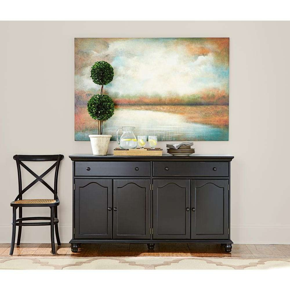 Home Decorators Collection Harwick Black Buffet Bf 23034 Bl – The Intended For Sideboards Buffet Furniture (View 10 of 20)