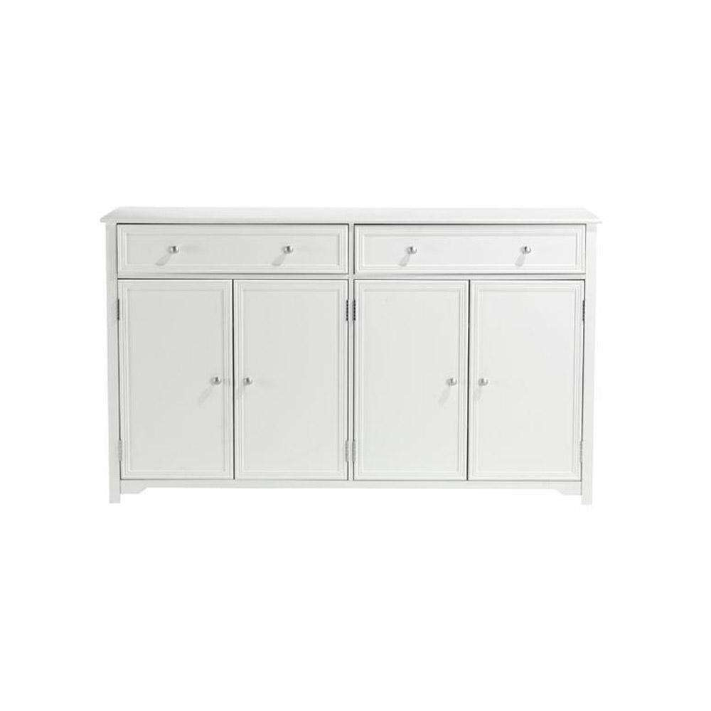 Home Decorators Collection Oxford White Buffet Bf 24934 Wh – The With Regard To White Sideboards Tables (View 18 of 20)