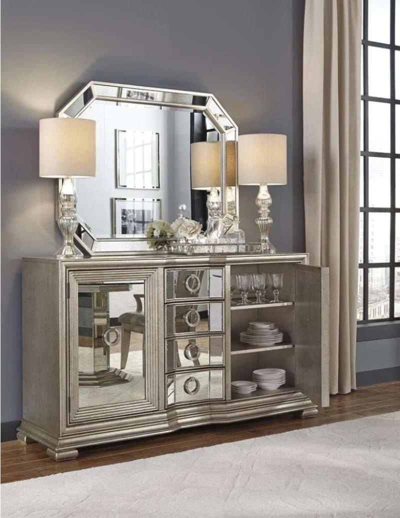 Home Furniture Top Inquiries Mirrored Buffet Sideboard Server Credenza Within Mirrored Buffet Sideboards (View 18 of 20)