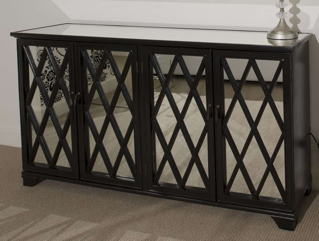 Home Ideas: Beautiful Shines Mirrored Sideboard For Home Furniture Regarding Silver Sideboards (View 6 of 20)