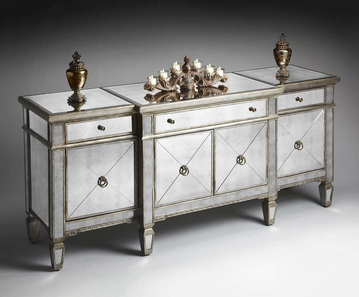 Home Ideas: Beautiful Shines Mirrored Sideboard For Home Furniture With Mirrored Sideboards And Buffets (View 5 of 20)