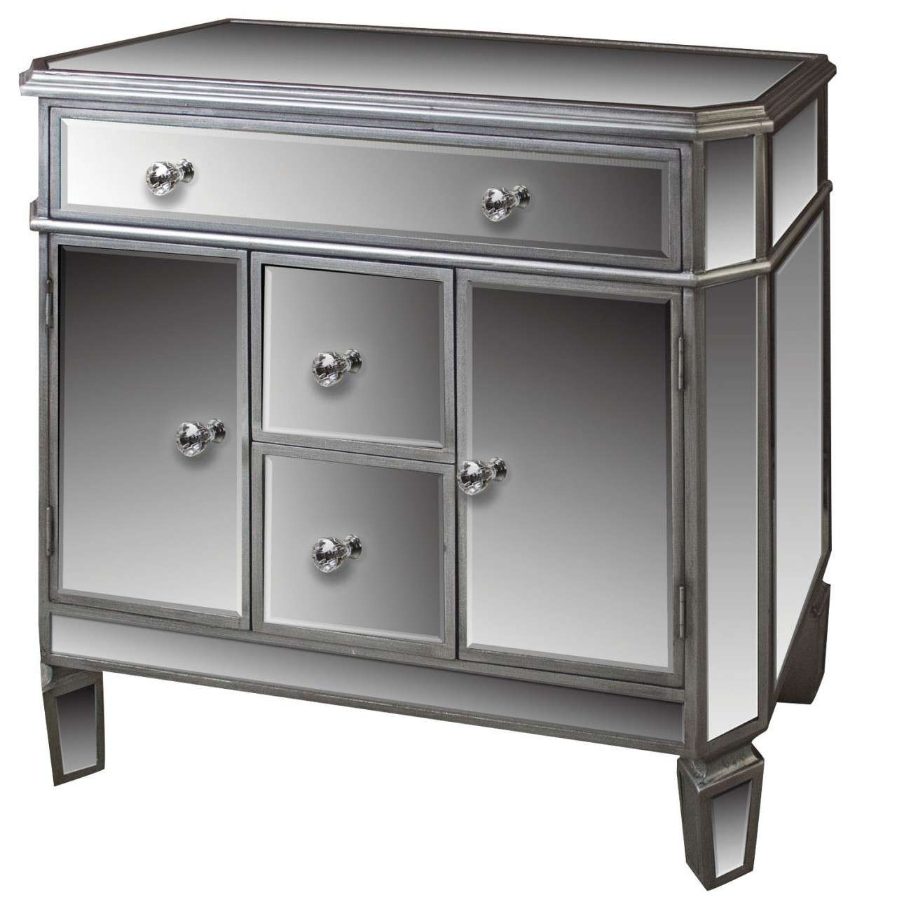 Home Ideas: Beautiful Shines Mirrored Sideboard For Home Furniture With Regard To Small Mirrored Sideboards (View 6 of 20)