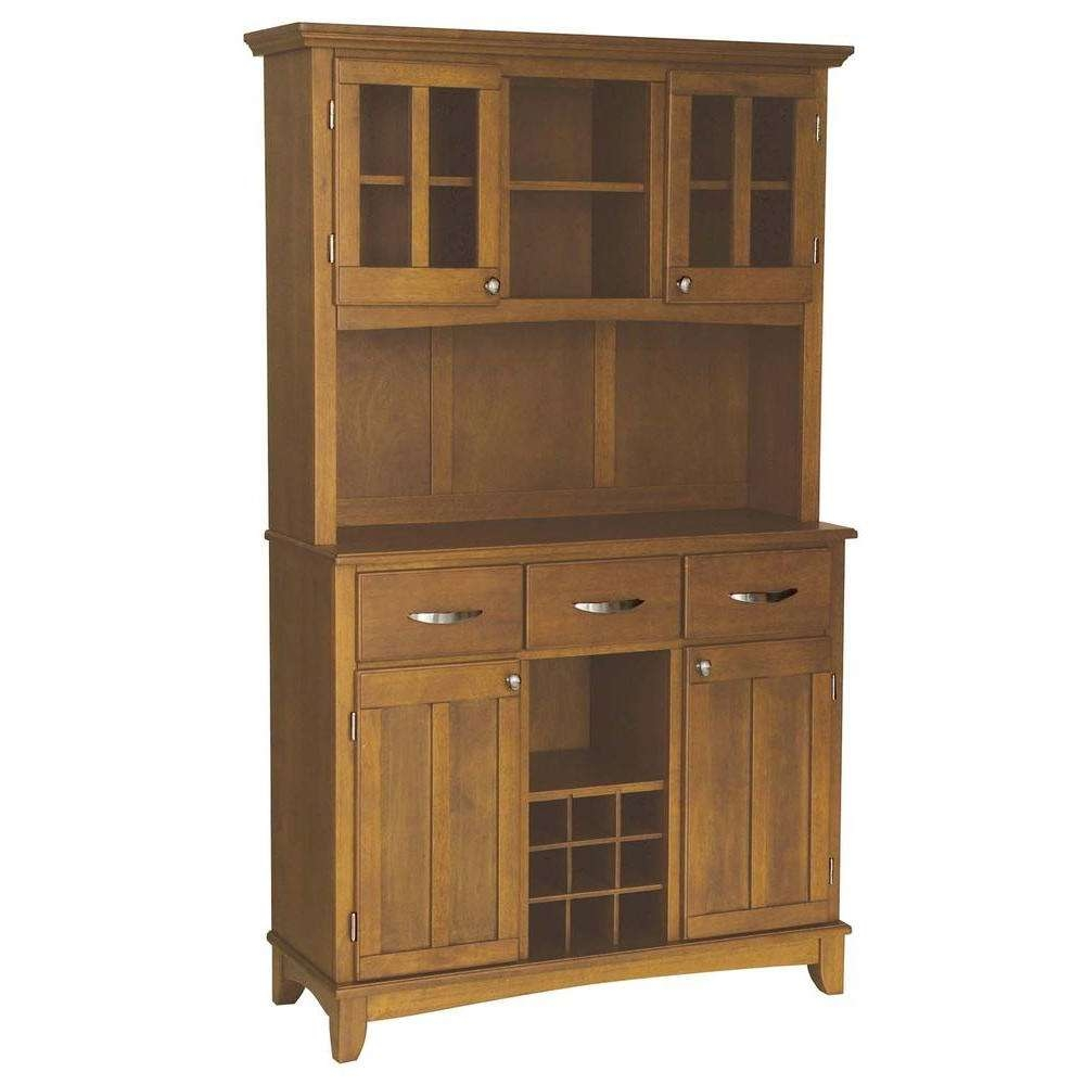 Home Styles Cottage Oak Buffet With Hutch 5100 0066 62 – The Home Intended For Sideboards And Hutches (View 6 of 20)