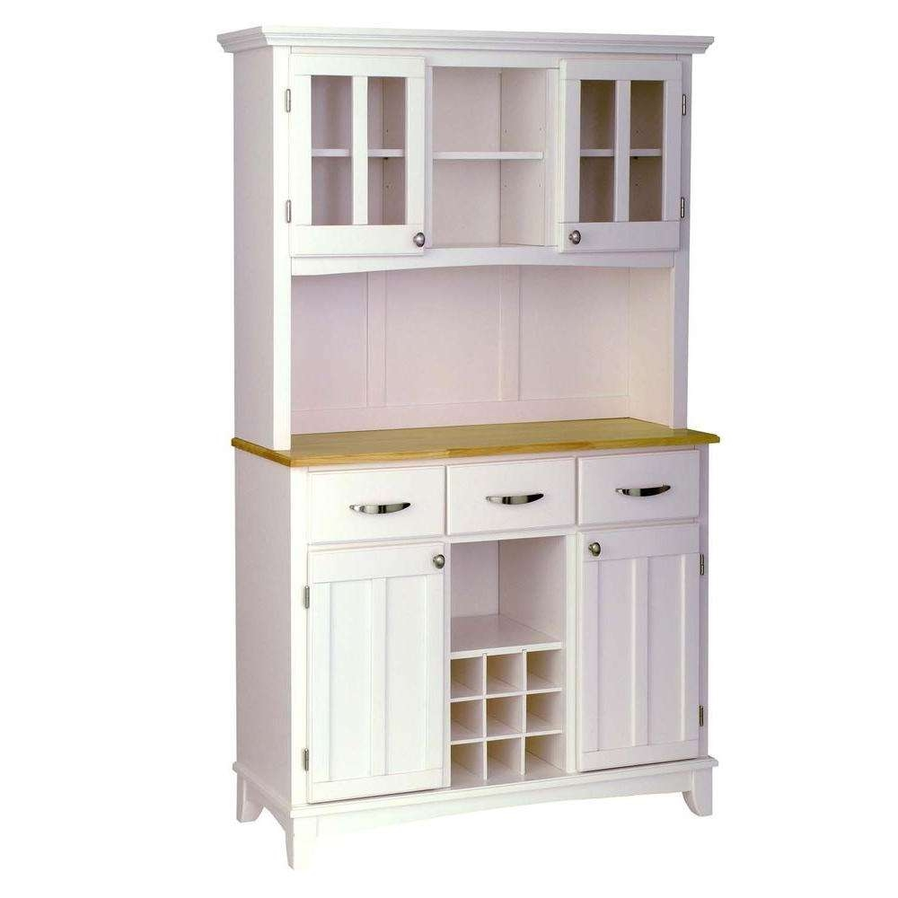Home Styles White And Natural Buffet With Hutch 5100 0021 12 The Regarding Sideboards