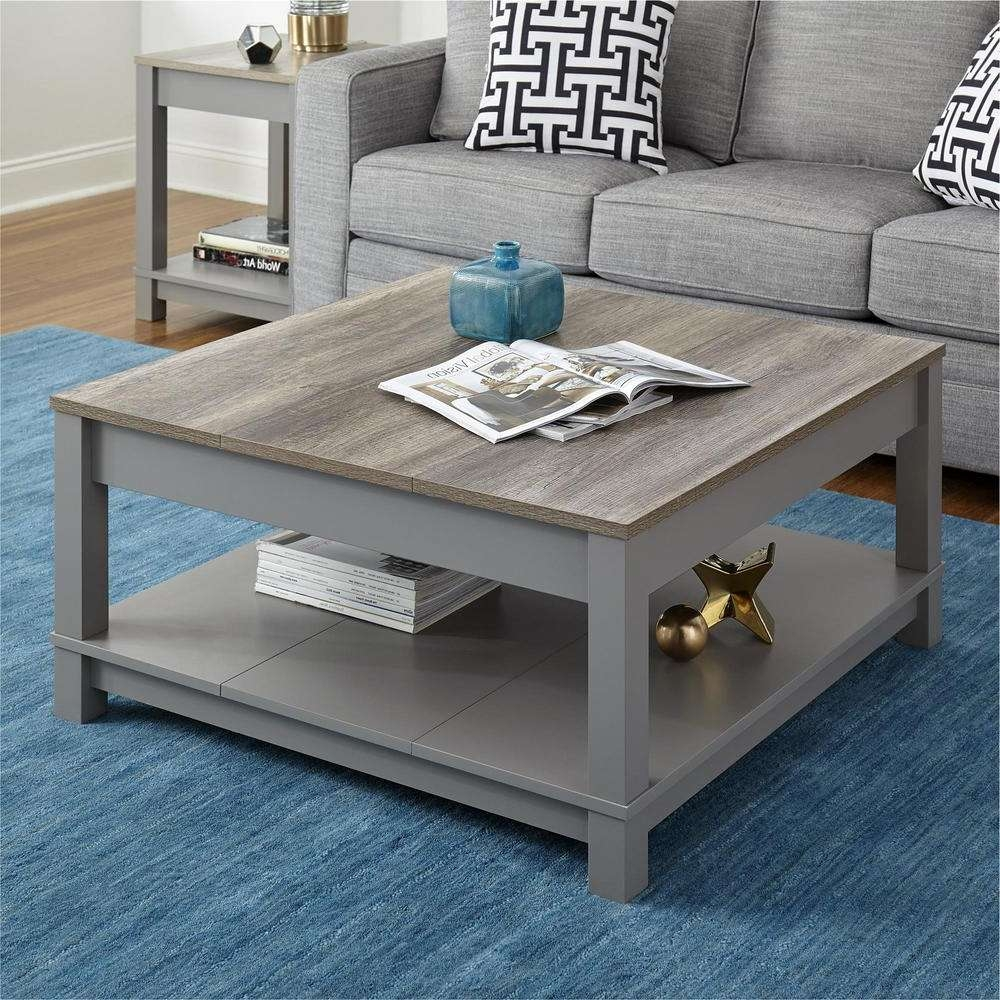 Home Tables Inside Trendy Grey Wood Coffee Tables (View 13 of 20)