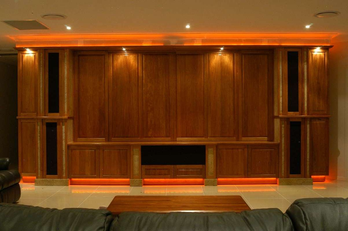 Home Theatre Gallery – Blue Gum Joinery Pty Ltd Intended For Traditional Tv Cabinets (View 4 of 20)