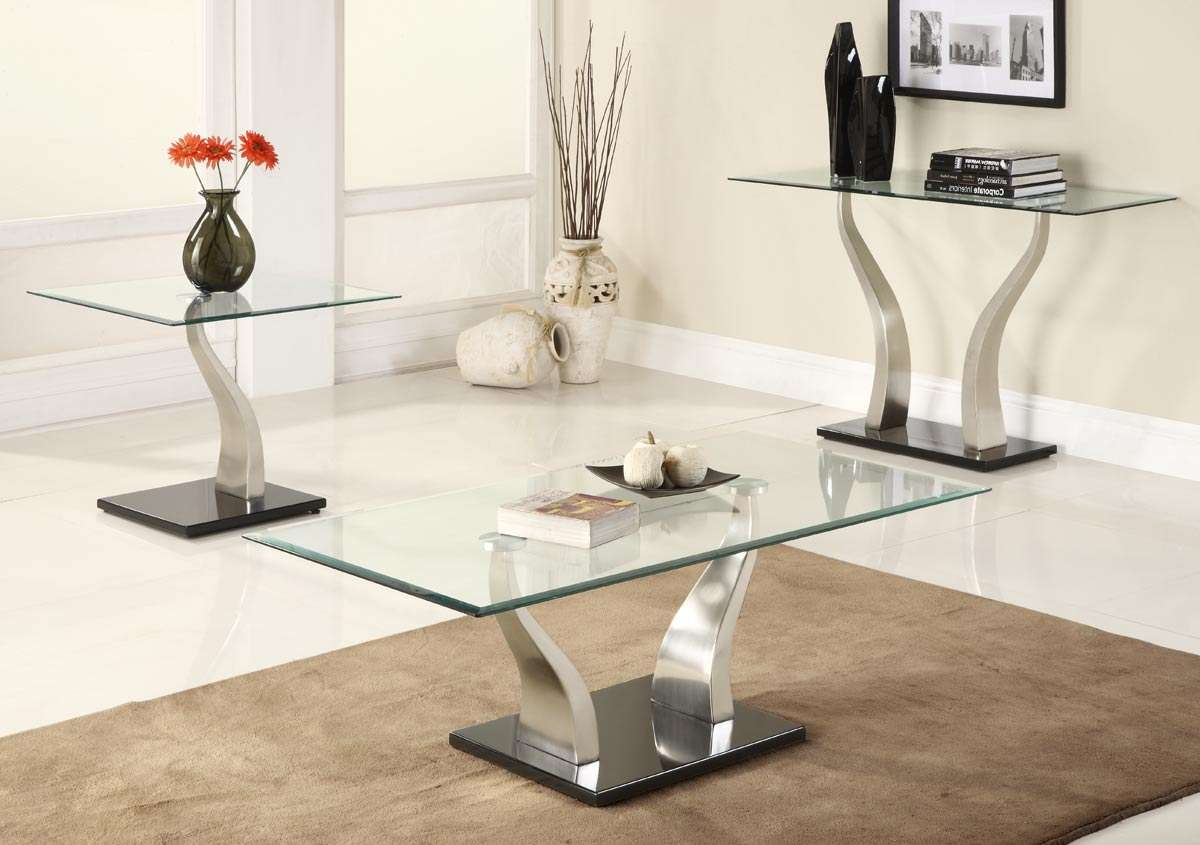Homelegance Atkins Occasionals Coffee Table Set C3402 Inside Latest Contemporary Coffee Table Sets (View 11 of 20)