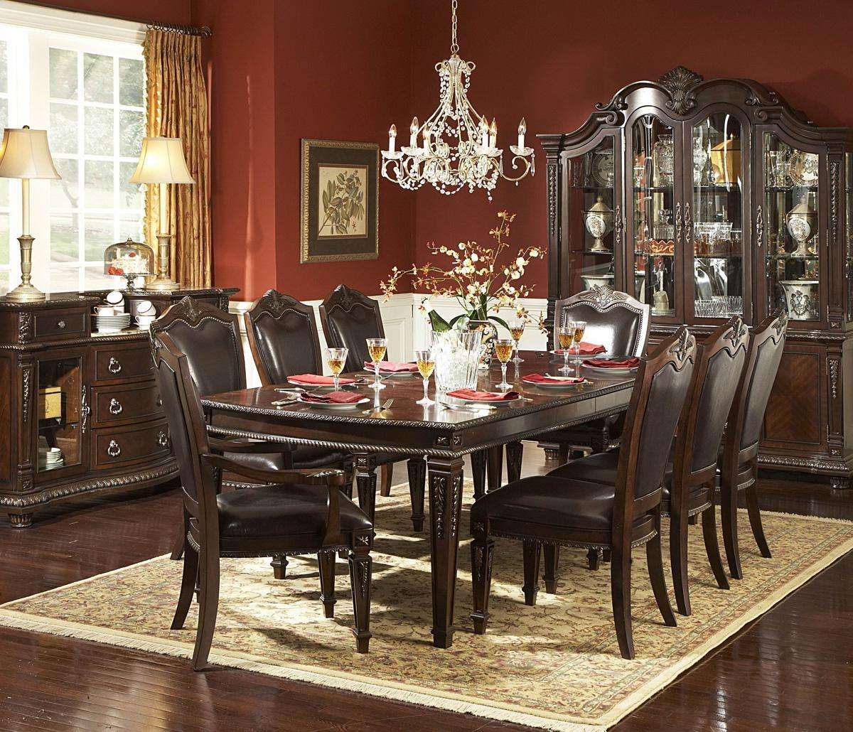 Homelegance Palace 70 Inch Buffet & Hutch In Brown Cherry – Beyond Regarding 70 Inch Sideboards (View 18 of 20)