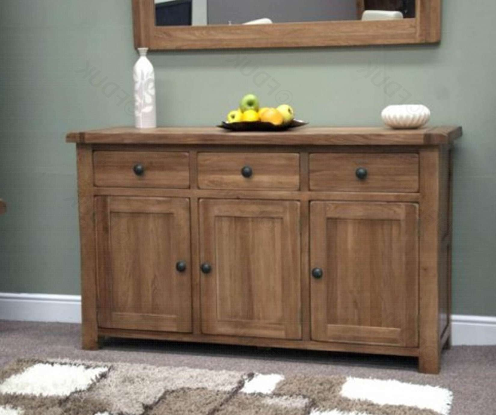 Homestyle Gb | Rustic Oak Large Sideboard | Furnituredirectuk With Regard To Rustic Oak Large Sideboards (View 7 of 20)