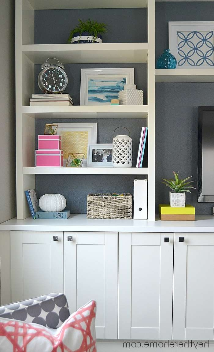How Did We Create That Built In In The Family Room? For Ikea Built In Tv Cabinets (View 5 of 20)