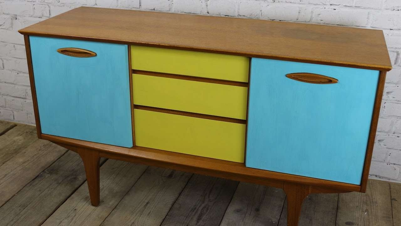 How I Upcycled Painted A Retro Sideboard Using Chalk Paint – Youtube With Regard To Chalk Painted Sideboards (View 7 of 20)