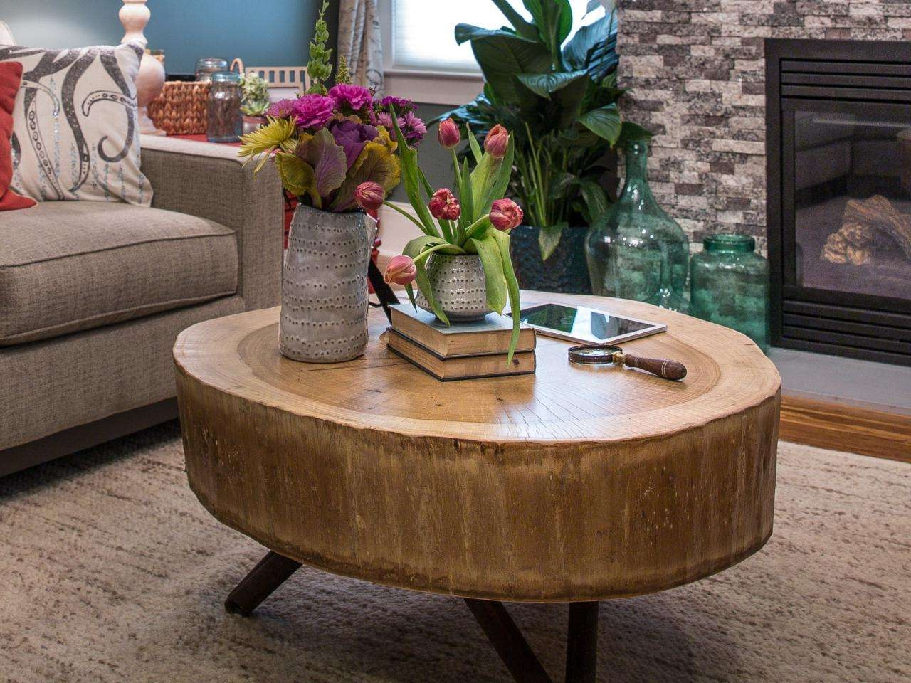 Featured Photo of Tree Trunk Coffee Table