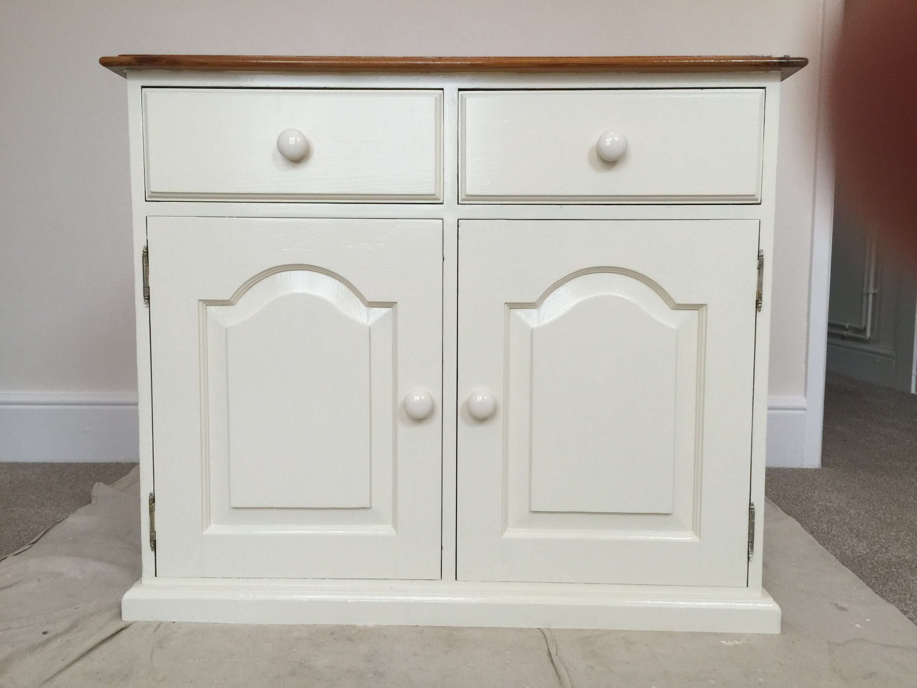 How To Paint Old Pine Furniture, Restoration – Youtube Inside White Pine Sideboards (Gallery 4 of 20)