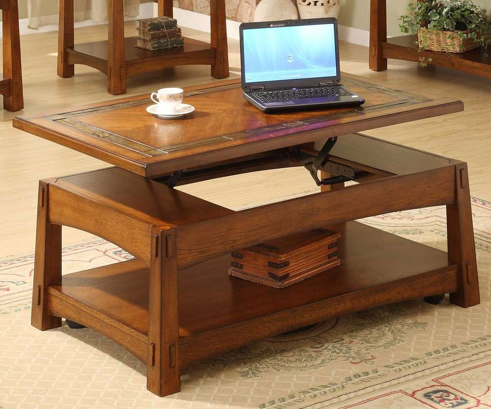 How To Repair An Elevator Lift Top Coffee Tables — The Home Redesign Pertaining To Widely Used Coffee Table With Raised Top (View 7 of 20)