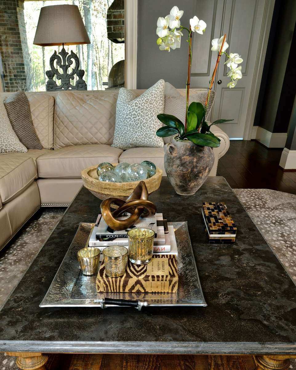 How To Style Your Coffee Table — An Interior Designer Reveals Her With Regard To Most Recently Released Mercury Glass Coffee Tables (View 7 of 20)