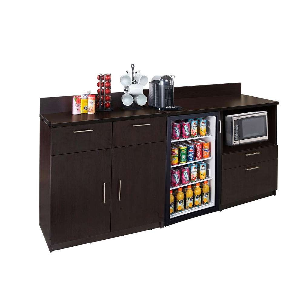 Hue Break Room Furniture Coffee Kitchen Espresso Sideboard With Intended For Espresso Sideboards (View 13 of 20)