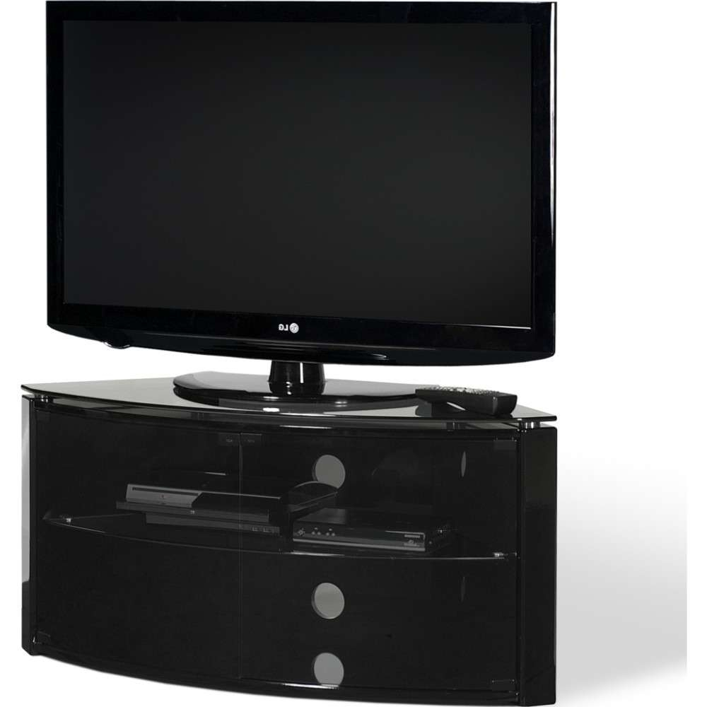 Ideal For Corner Installations; Simple Tension Rod Assembly Regarding Black Corner Tv Cabinets (View 11 of 20)